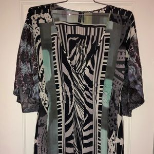 Silk dress with multiple pattern dress by Guess